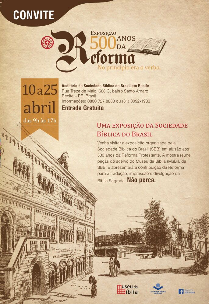 Exposição 500 anos da Reforma - Blogdoangelo.com
