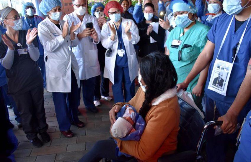 Curados da Covid-19 crescem no Brasil  Foto: EFE/Southside Hospital