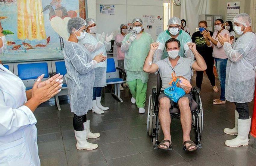 Aparecido José Brandão, de 48 anos, primeiro paciente a contrair o novo coronavírus (Covid-19) em Corumbá, recebeu alta da Santa Casa no começo de abril. (Foto: Renê Márcio Carneiro / PMC)
